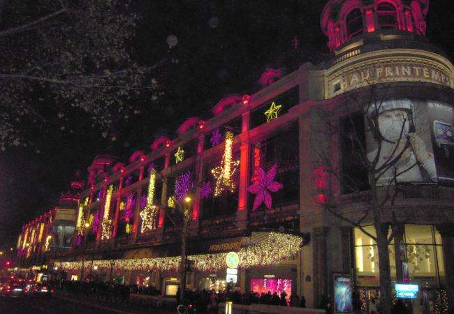 Christmas windows and illuminations; festive magic